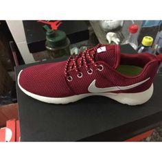 80d3073510ca Nike Roshe Run Womens Mens Mesh Maroon Red White Burgundy