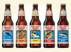 Ballast Point Brewing Co. beer labels designed by MiresBall.