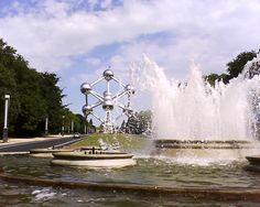 Atomium & fountain, Brussels, Belgium