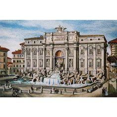 Mosaico Fontana di Trevi Roma | Michelangelo Souvenirs Firenze dal 1993