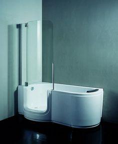 Polar Walk-in dusjkar. Lekkert og smart walk-in badekar og dusjkabinett Walk In Bathtub, Bathtub Shower, Spa Tub, Spa Baths, Bathroom Inspiration, Bathroom Ideas, Full Bath, Master Bath, Design