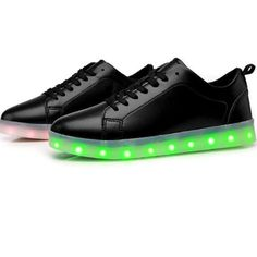 Black Light Up Trainers 2016 For Adults