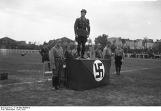 SA Sports Festival, Karl Ernst head of SA in Berlin, Berlin 1932.  Ernst was shot as part of Night of the Long Knives.