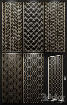 models: Other decorative objects - Decorative partition Decorative Metal Screen, Decorative Panels, Decorative Objects, Partition Screen, Partition Design, Black And White Art Drawing, Jaali Design, Stainless Steel Screen, 3d Wall Tiles