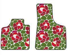 Automatten mit floralem Design.
