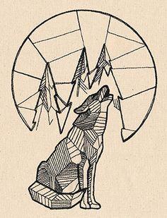 Howling Wolf design (UT7749) from UrbanThreads.com