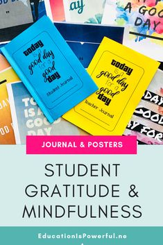 Gratitude Journal for Students & Teachers and Classroom Posters Teaching Writing, Teaching Resources, High School Subjects, Secondary Resources, Middle School English, Classroom Posters, Student Teacher, Classroom Management, Lesson Plans