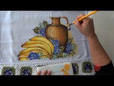 Banana, Jarro e Amor Perfeito em Tecido (Aula 64) - YouTube