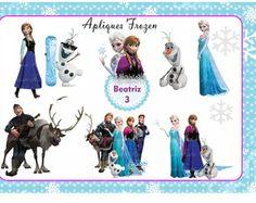Kit 10 recortes para decoração Frozen
