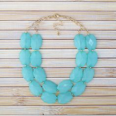 Turquoise Statement Necklace, Chunky Bead Collar Bib Necklace, Bridesmaid Wedding Bridal Jewelry, Silver or Gold Statement Necklace by TheGoldenGardenia on Etsy https://www.etsy.com/listing/202177813/turquoise-statement-necklace-chunky-bead