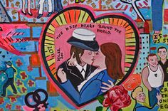 "A vignette in my painting of Stonewall depicts the embrace between two female sailors in what was called ""The Kiss Heard Around the World"" by those who fought for a repeal of ""Don't Ask Don't Tell."""