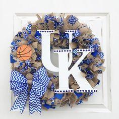 UK Wreath Kentucky Wreath University of by BluegrassAndBurlap