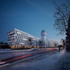 Wasserturm Karlsruhe - Competion Visualization on Behance