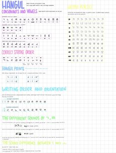 Korean Language 289215607312277098 - ~ Here are some hangul notes from when I started learning, some of you have asked me to send them to you, so I figured I should post them Those notes are from the Korean from zero… Source by NinouMaryne Learn Basic Korean, How To Speak Korean, Korean Words Learning, Korean Language Learning, Spanish Language, German Language, Japanese Language, French Language, Italian Language