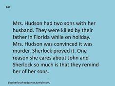 The reason Sherlock loves Mrs. Hudson so much
