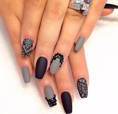 Black and gray claws with bling!