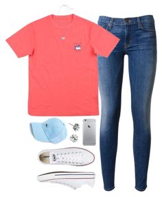 """""""just got a new ST shirt!"""" by tabooty ❤ liked on Polyvore featuring Hudson, Converse, Kendra Scott and Tory Burch"""