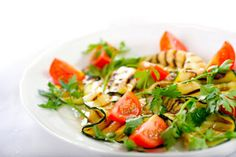 Grilled Zucchini and Tomato Salad - 0 points on Weight Watchers
