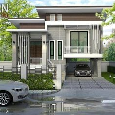 This Captivating Split-level House may be the House you are Looking for - Cool House Concepts Small Modern House Plans, Modern Small House Design, Simple House Design, Contemporary House Plans, House Front Design, One Storey House, 2 Storey House Design, Modern Bungalow House, Bungalow House Plans