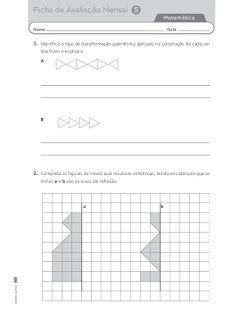 9 Fichas De Avaliacao Mensal 2 Provas De Afericao Matematica