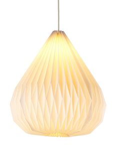 Folding Droplet Paper Ceiling Lamp Shade | M&S