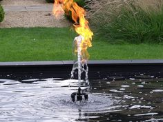 Waterflame by Jeppe Hein