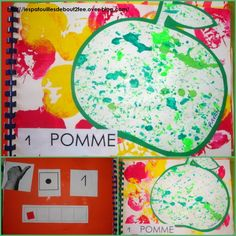 1 pomme bout2fee Petite Section, Math Journals, Number Sense, Kindergarten Classroom, Tapas, Crafts For Kids, Preschool, Fruit, Blog