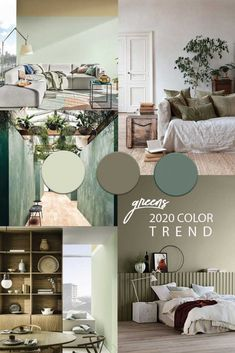 living room paint color ideas Green interior trend: try these 4 new greens in 2020 / green wall paint, dark green wall decor and green interior inspirations on ITALIANBARK Room Paint Colors, Paint Colors For Living Room, Green Wall Color, Light Green Walls, Green Painted Walls, Trending Paint Colors, Home Decor Trends, Decor Ideas, The Ranch