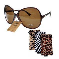 9093494252 DG EYEWEAR Women s VINTAGE Celebrity Style Designer Oversized Sunglasses  With Pouch TORTOISE by DG Eyewear.