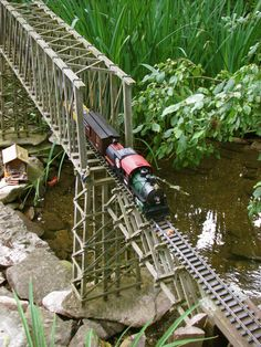 Large-Scale Garden Trains | engineering skills came in handy …not to operate the trains ...