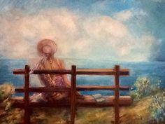 Oil on canvas, Solitude, Anna M.Mazzi