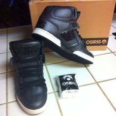 ea3afe6e613 Selling this Osiris black high tops shoes in my Poshmark closet! My  username is