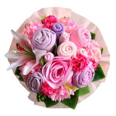 Looking for a unique gift?Baby bouquet by Baby Buket is a perfect gift for baby shower, newborn baby and birthday.   #babybouquet#babybuket#pink#flowers#newborngift#babyshower#gift