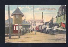 Norristown Pennsylvania Railroad Depot Train Station Old Postcard PA | eBay