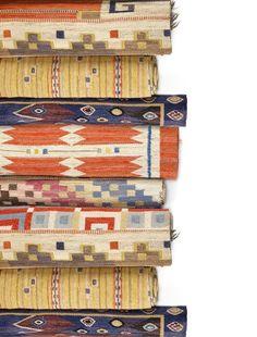 Vintage Rugs : vintage colorful rugs, Scandinavian design rug, geometric pattern rug for modern interior decor or vintage interior decor