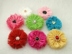 DIY Shabby Chic Fabric Flower, Tattered But Never Fray, Tutorial - YouTube