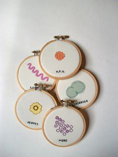 Cross-Stitched Microbes Let You Hang Your Favorite Germs on the Wall
