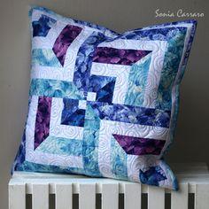 Hortenzie var.2 Cushions, Pillows, Quilts, Blanket, Bed, Home, Patchwork Cushion, Throw Pillows, Toss Pillows