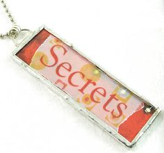 Secrets Pendant by XO Handworks $20