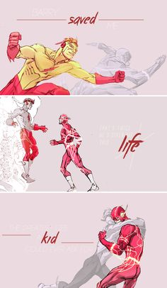 The Flash rebirth #1   Barry saved me. That´s twice he´s given me this life… The greatest life a kid could ever ask for                  #dc