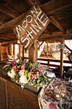 Drinks/bar sign. La Fleur Weddings and Events | Gallery | Rustic Elegance, Shabby Chic Barn
