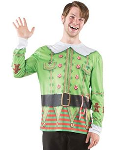 Beautiful costumes are over-rated. How about getting an ugly sweater? Especially this Ugly Elf sweater printed with all kinds of Christmas related stuff like G Mens Ugly Christmas Sweater, Ugly Sweater, Holiday Sweaters, T Shirt Costumes, Adult Costumes, Girl Costumes, Elf T Shirt, Morris Costumes, Christmas Elf