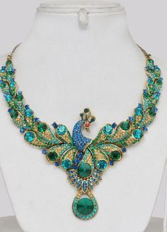 Peacock Jewelry Indian - Click Image to Close