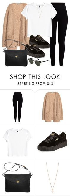 """Sin título #11943"" by vany-alvarado ❤ liked on Polyvore featuring Pepper & Mayne, H&M, Puma, Mimi Berry, Minor Obsessions and Topshop"