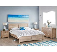 Finished in a panelled light oak, the stylish Havana double bedroom package will add a coastal feel to your space. Shop now, only at Fantastic Furniture! Double Bedroom, Double Beds, Master Bedroom, African Themed Living Room, Furniture Packages, Clean Bedroom, Couch Covers, Cool House Designs, Queen Beds