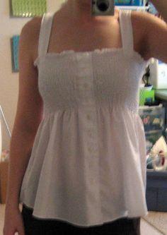 Men's Dress Shirt turned girly! - CLOTHING