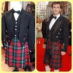 Get a smashing Scottish look like David Tennant! Kilt jacket - size L - £35 • small kilt - £28 #davidtennant #tennant #doctorwho #thedoctor #tenthdoctor #georgiamoffett #whovians #bartycrouchjr #tardis #royalshakespeareco #richardii #hamlet #actor #celebrity #kilt #scottish #scotsman #twitter #internationalselling #instagram