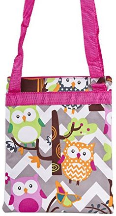 Pink Grey Chevron Owls Small Hipster Cross Body - Click image twice for more info - See a larger selection of kids messenger bag at http://kidsbackpackstore.com/product-category/kids-messenger-bags/ - kids, juniors, back to school, kids fashion ideas, school supplies, backpack, bag , teenagers,  boys, girls  gift ideas,school bag,
