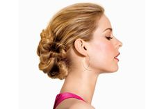 Divide pony tail in half. Take one half and divide it again, twist the two 1/4th together, tie with hairband. Do the same with the other pony tail half. Take the two twists and sort of tie a knot, secure the knot and loose ends into a bun. See video for more information