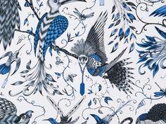 Clarke & Clarke Audubon Blue